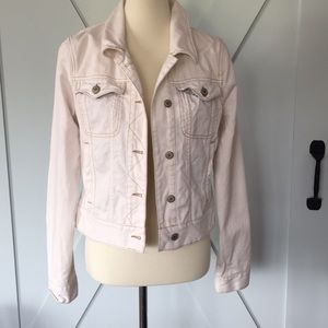 Free People Cream Jean Jacket